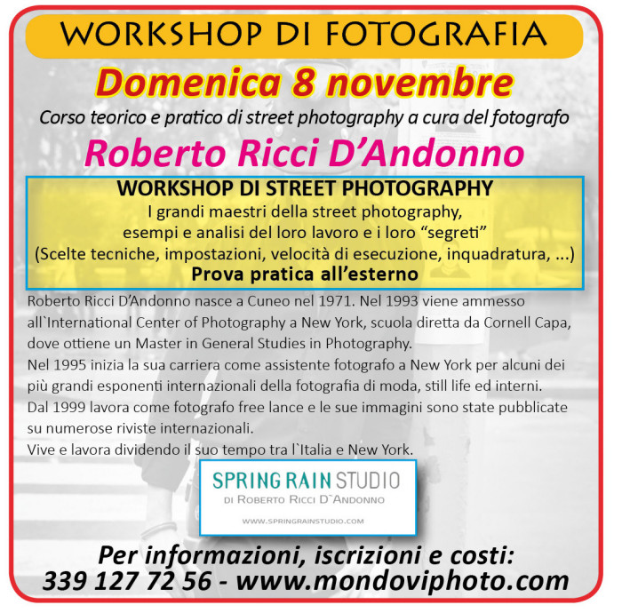 Workshop mondov photo for Gettare i piani del workshop